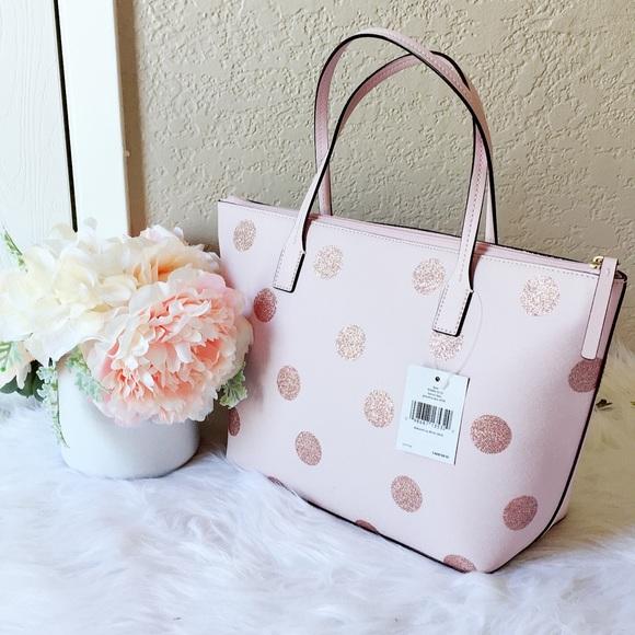 12934a8f8811 🌷🌸Kate spade light pink polka dot tote bag🌸🌷